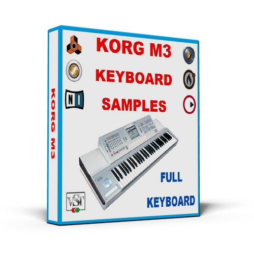 Product picture KORG M3 KEYBOARD SAMPLES  * REASON REFILL *  FULL KEYBOARD